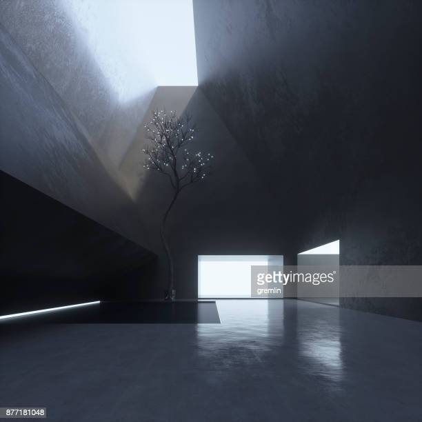 moderne luxus-villa-interieur - art stock-fotos und bilder