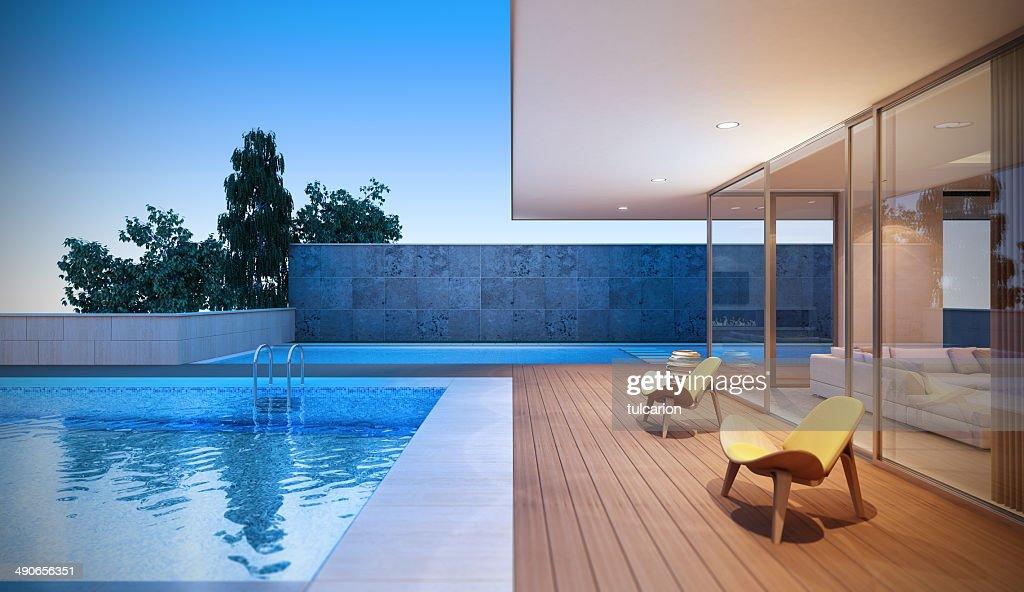 Modern Luxury Villa : Stock Photo