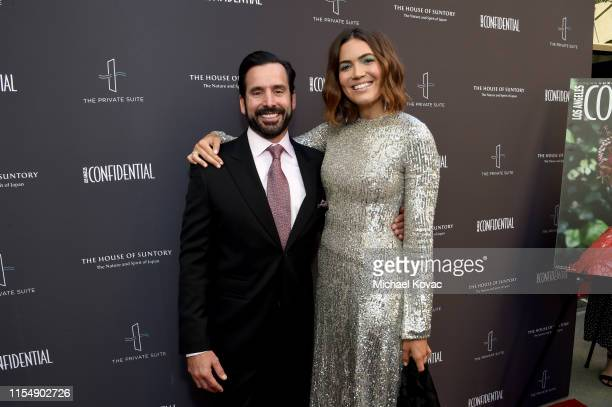 Modern Luxury's Christopher Gialanella and Mandy Moore attend the Los Angeles Confidential Impact Awards at The LINE Hotel on June 09 2019 in Los...
