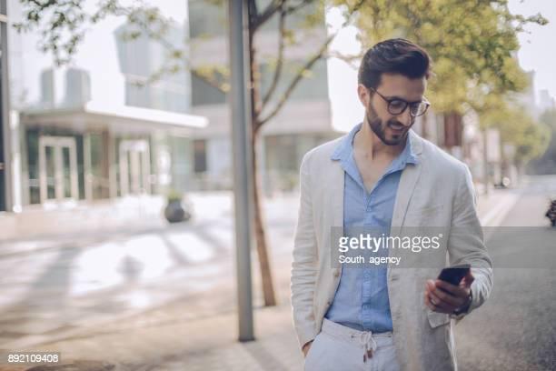 Modern man in city