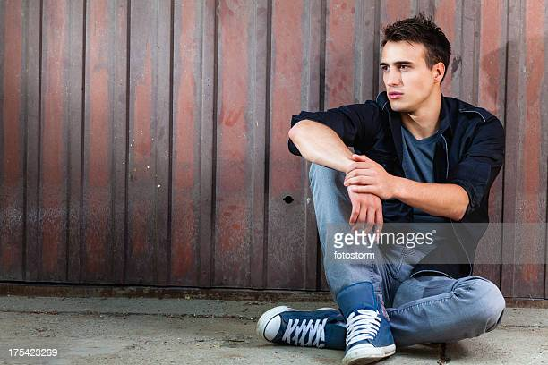Modern man posing