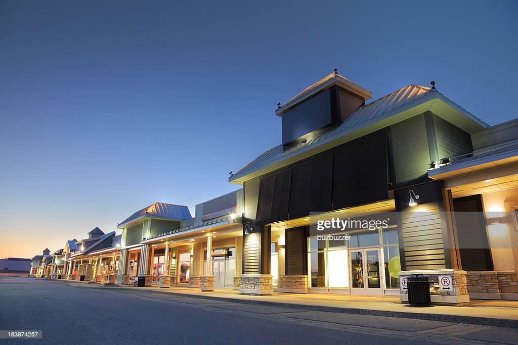 Modern Marketplace Store Exteriors : Stock Photo