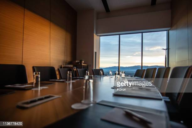 modern meeting room in the hotel - board room stock pictures, royalty-free photos & images