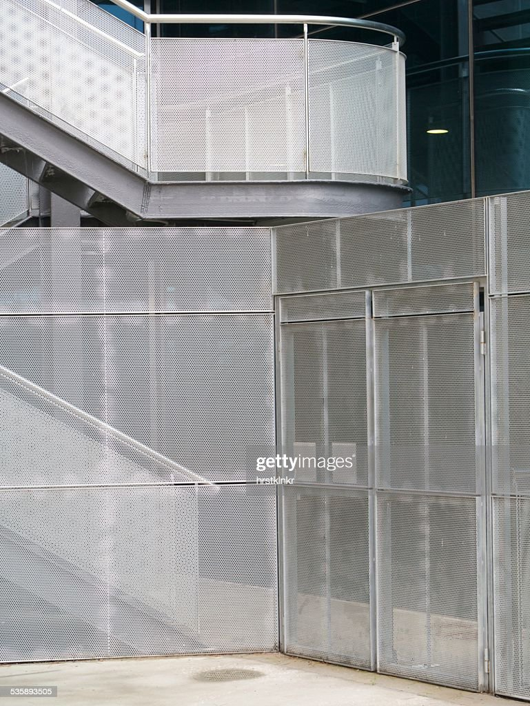 modern metal facade : Stock Photo