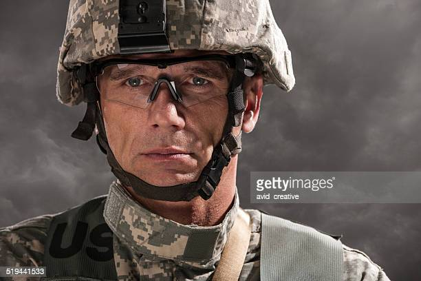 Modern Military Soldier Portrait