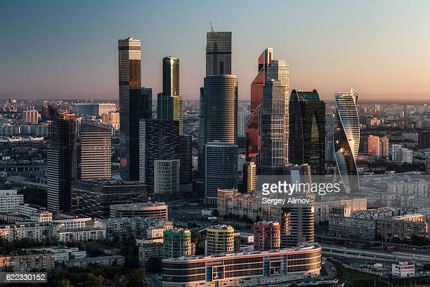 modern moscow - moscow skyline stock pictures, royalty-free photos & images