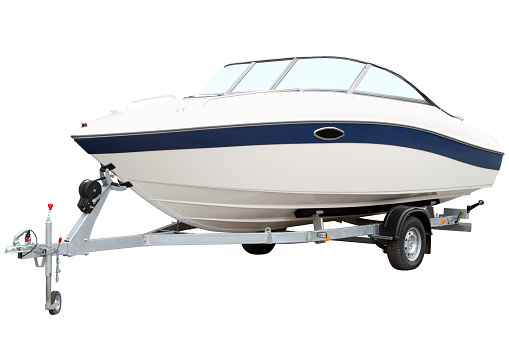 Modern motor boat 479224896