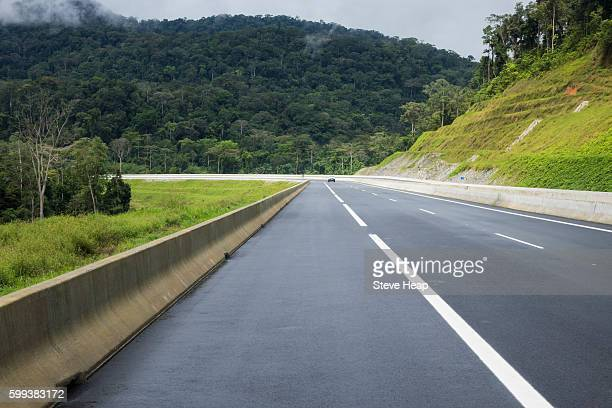 Modern motorway between Bata and Mongomo and the new city of Oyala in Equatorial Guinea