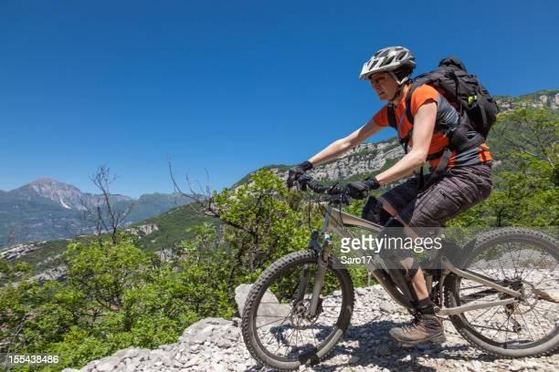 Modern mountainbike lady