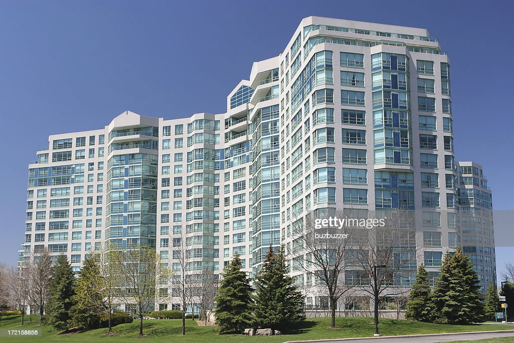 Modern Multi-Story Apartment Building : Stock Photo