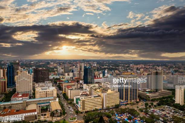 modern nairobi cityscape - capital city of kenya, east africa - nairobi stock pictures, royalty-free photos & images