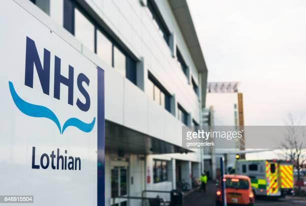 Modern NHS Hospital exterior