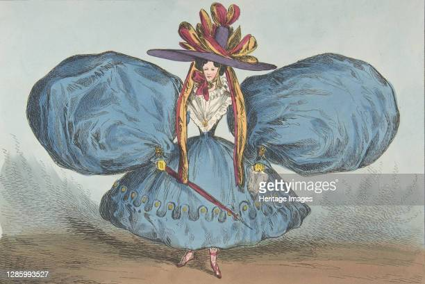 Modern Oddities by P. Pry Esq., Plate 1st: The Sleeves Curiously Cut, Ay There's the Villainy - vide Shakespeare, June 30, 1829. Artist William Heath.