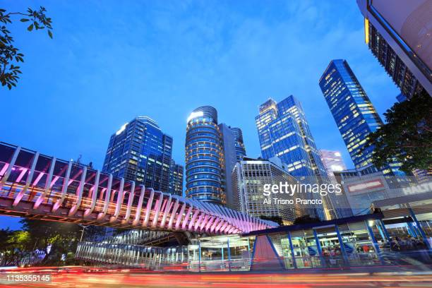 modern of jakarta city - jakarta stock pictures, royalty-free photos & images