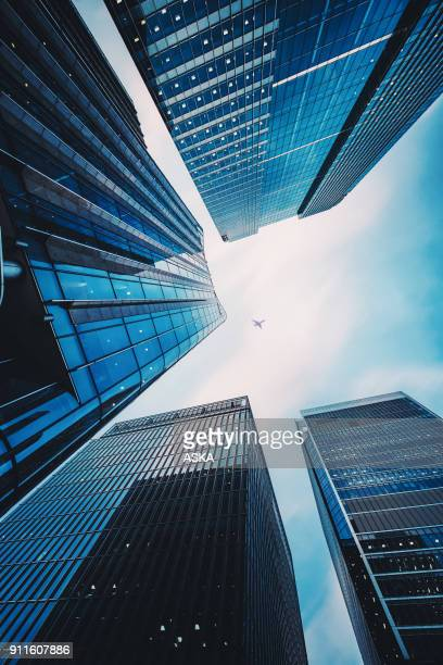 modern office architecture - vertical stock pictures, royalty-free photos & images