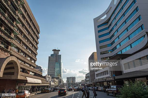 Modern office blocks in downtown Harare, Zimbabwe