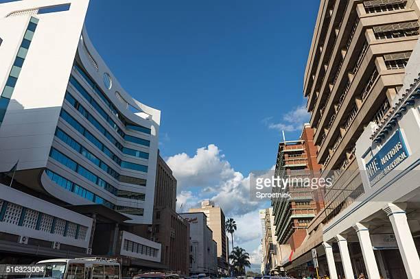 Modern office blocks in downtown Harare, Zimbabwe