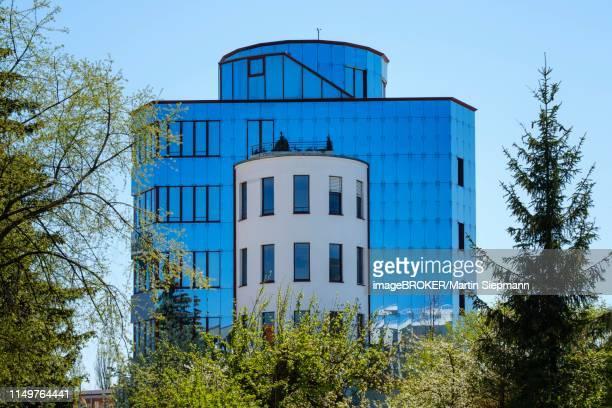 modern office building, deuter-park, augsburg-oberhausen, augsburg, swabia, bavaria, germany - augsburg zwaben stockfoto's en -beelden