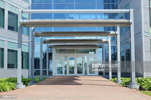 Modern Office Building Entrance