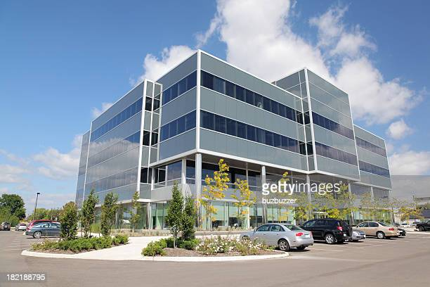 modern office building exterior - medical building stock pictures, royalty-free photos & images