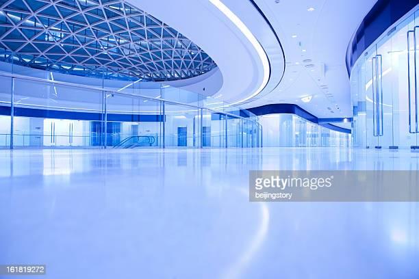 modern office building hallway