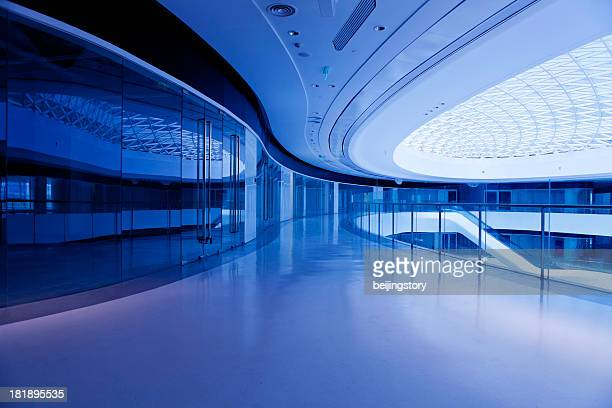 modern office building hallway