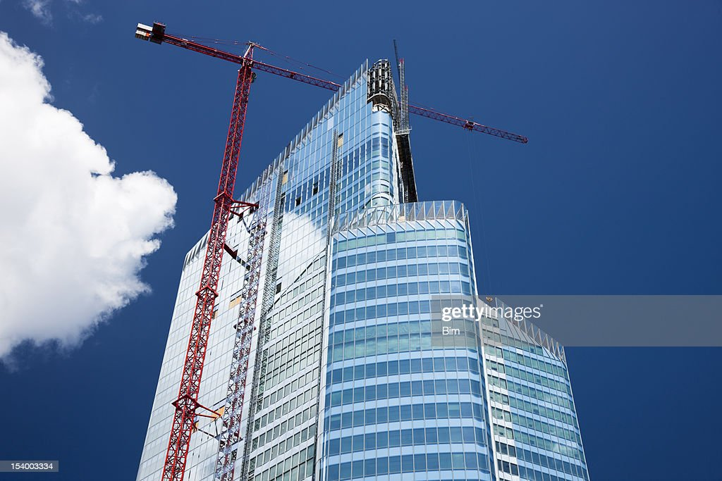 Modern Office Building in Construction, Paris, France : Stock Photo