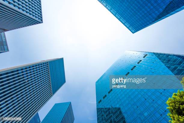 modern office building in shanghai china - at the bottom of stock pictures, royalty-free photos & images
