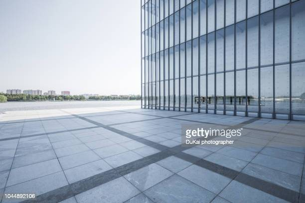 modern office building in shanghai - building exterior stock pictures, royalty-free photos & images