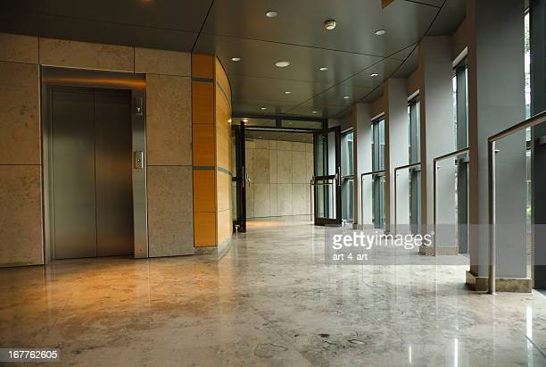 Modern office building interior