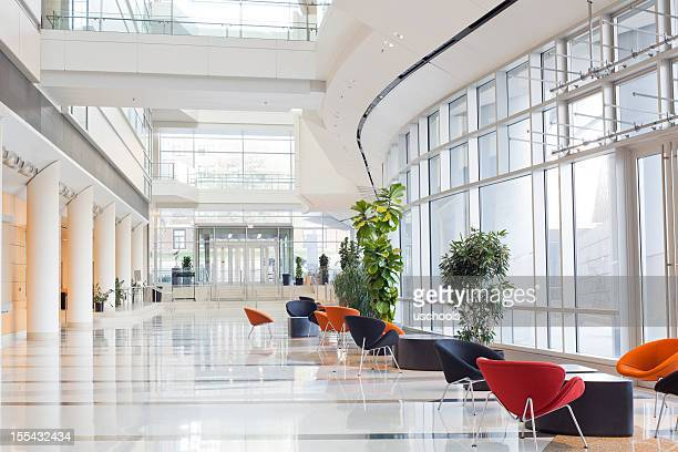 modern office building- lobby - inside of stock pictures, royalty-free photos & images