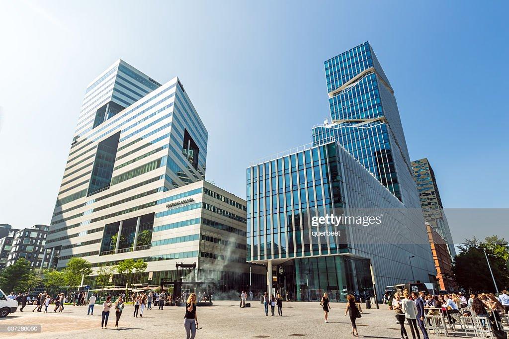 modern office buildings. Modern Office Buildings In Amsterdam. : Stock Photo