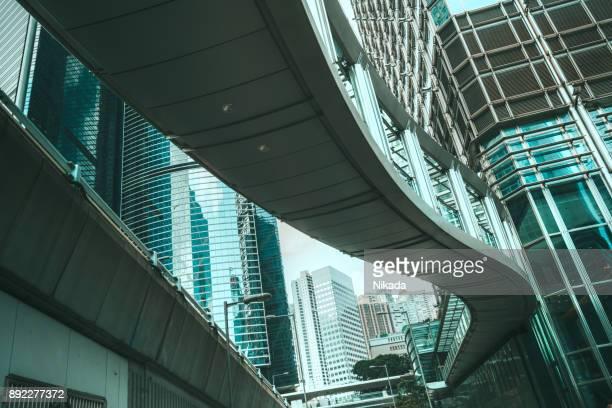 Moderne Bürogebäude im Zentrum von Hongkong