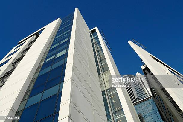modern office buildings in leeds - leeds stock pictures, royalty-free photos & images