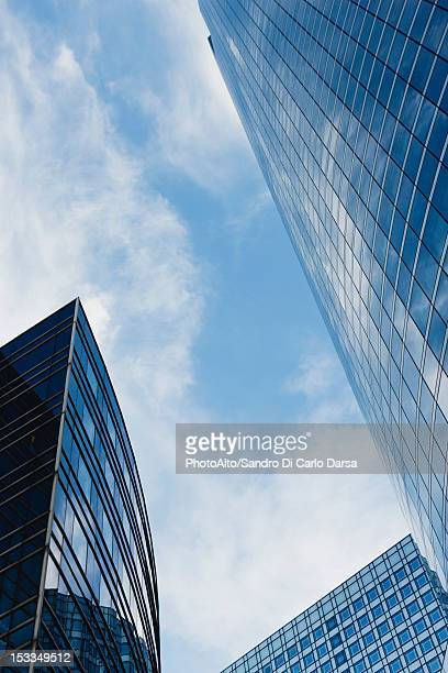 Modern office buildings, low angle view