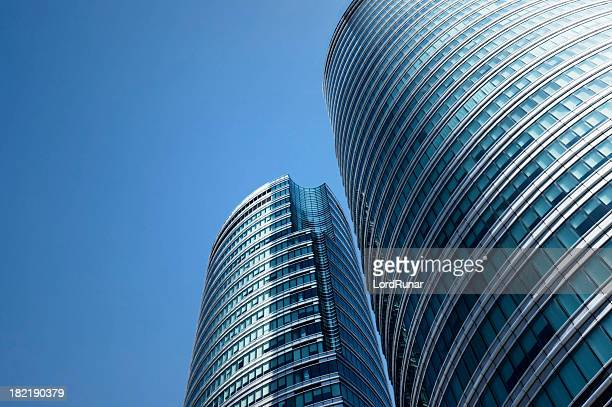 modern office buildings - manila philippines stock pictures, royalty-free photos & images