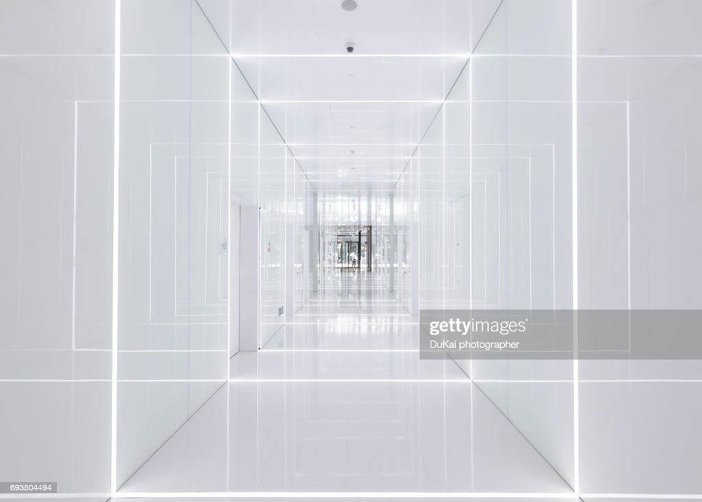 Modern office corridor : Stock-Foto