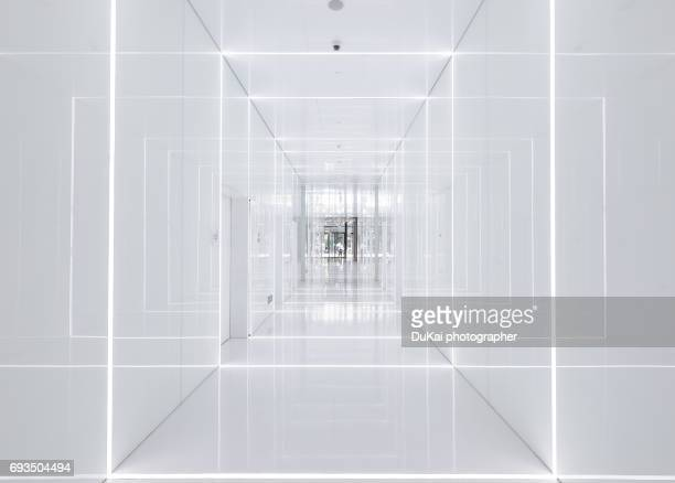 modern office corridor - future stock photos and pictures