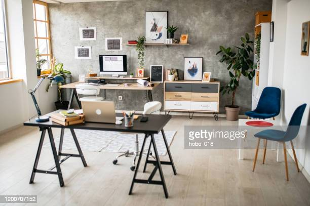 modern office interior - design studio stock pictures, royalty-free photos & images