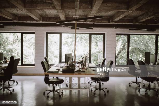 modern office interior - loft stock photos and pictures