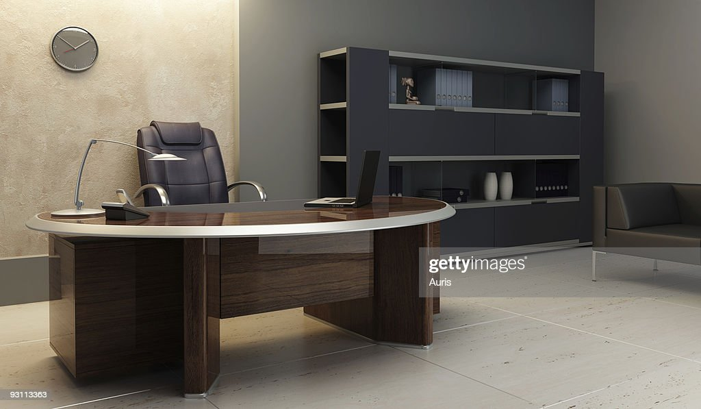 A Modern Office Interior Set Up Stock Photo