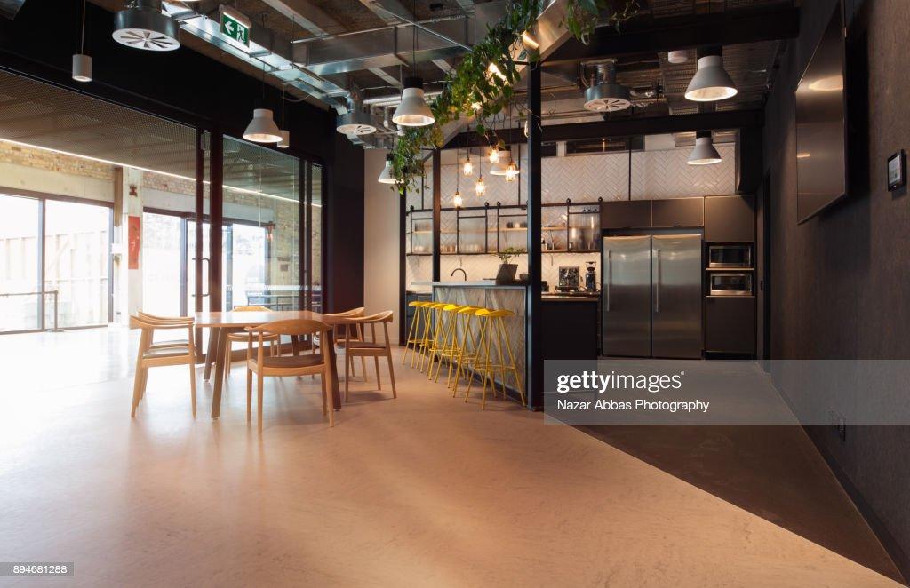 office kitchen. Modern Office Kitchen Interior. : Stock Photo
