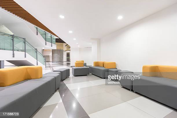 modern office lobby - showroom stock pictures, royalty-free photos & images