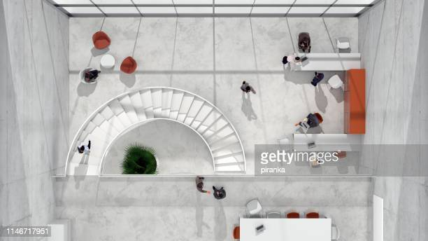 modern office - entrance hall stock pictures, royalty-free photos & images
