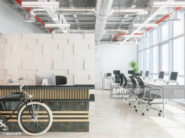 modern office reception area - real estate office stock pictures, royalty-free photos & images