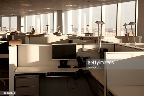 modern office space - office cubicle stock pictures, royalty-free photos & images