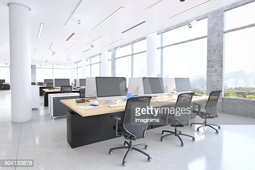 Modern office space stock photo getty images - Stylish desks to enhance your office space ...