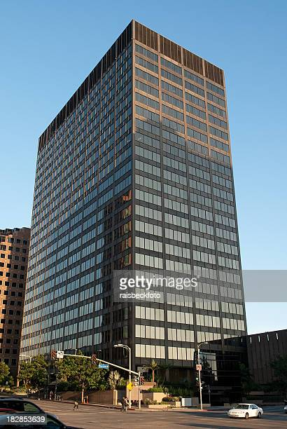 modern office tower in los angeles, california - westwood neighborhood los angeles stock pictures, royalty-free photos & images