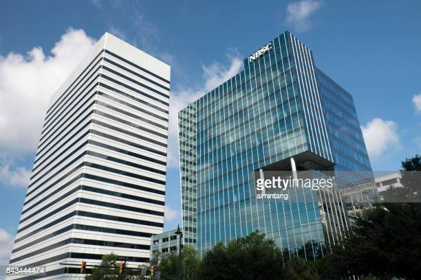 modern office towers in downtown columbia - columbia south carolina stock pictures, royalty-free photos & images