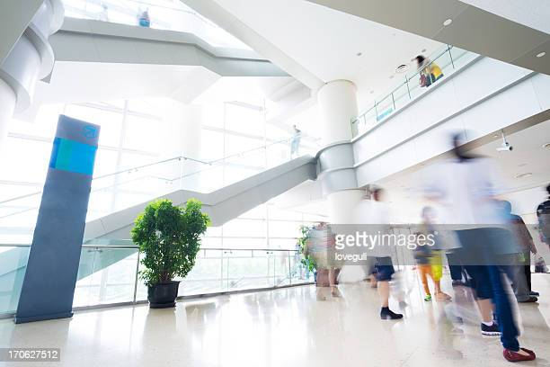 modern office with blur motion people